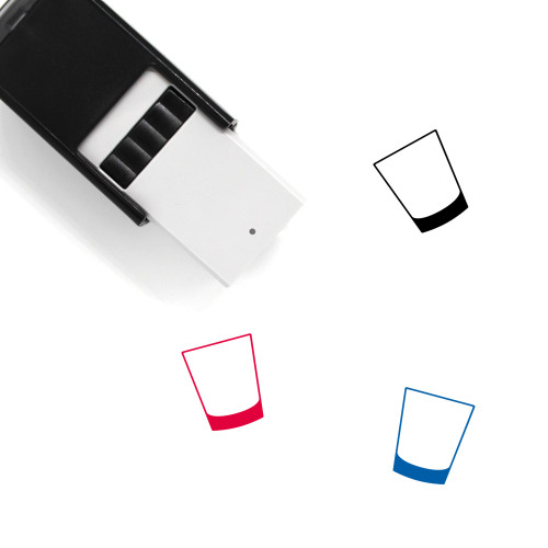 Simple Cocktail Glass Self-Inking Rubber Stamp No. 1