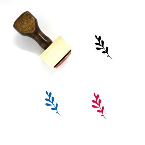 Aromatic Herbs Wooden Rubber Stamp No. 21