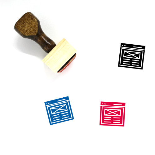 Web Content Wooden Rubber Stamp No. 34