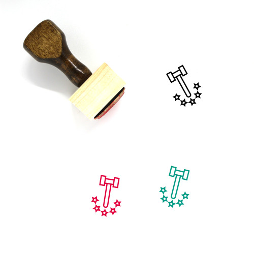 Law Wooden Rubber Stamp No. 300
