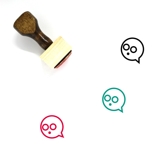 Speech Bubble Wooden Rubber Stamp No. 321