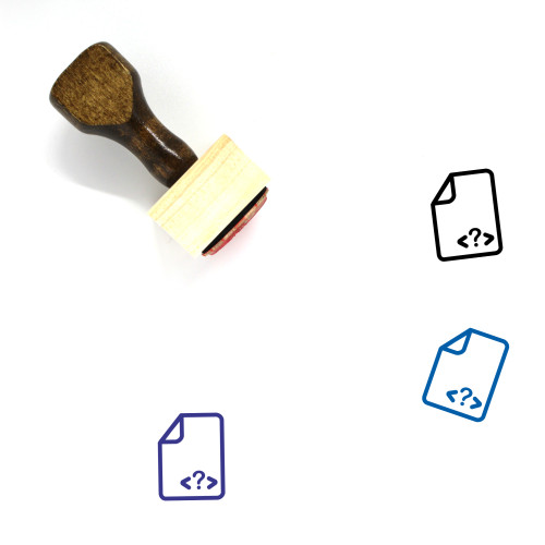 Files Wooden Rubber Stamp No. 64