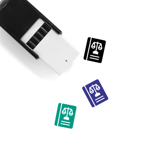 Law Book Self-Inking Rubber Stamp No. 38