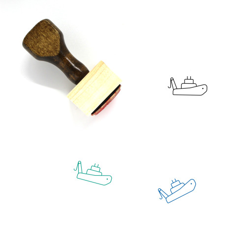 Tugboat Wooden Rubber Stamp No. 5