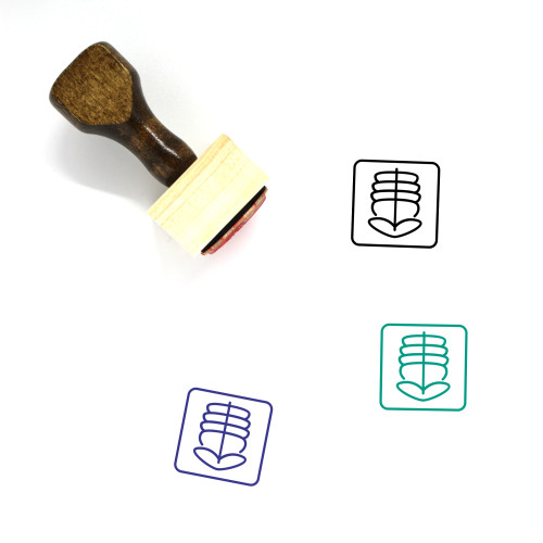 X Ray Wooden Rubber Stamp No. 43