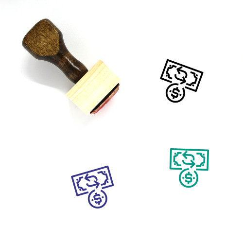 Financial Wooden Rubber Stamp No. 38