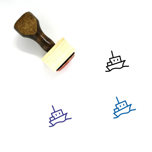 Ship Wooden Rubber Stamp No. 162