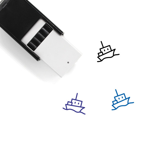 Ship Self-Inking Rubber Stamp No. 162