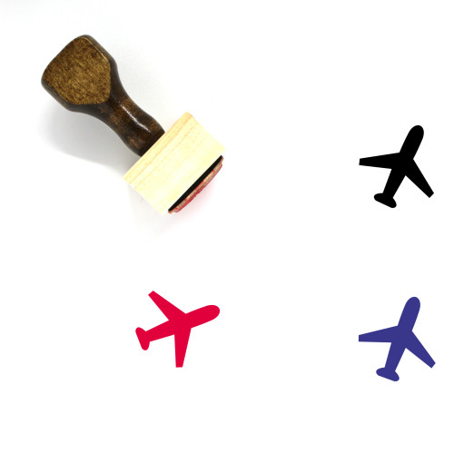 Plane Wooden Rubber Stamp No. 75