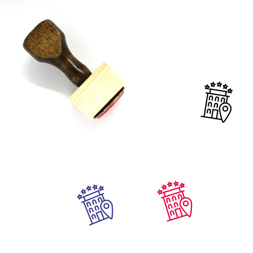 Hotel Wooden Rubber Stamp No. 75