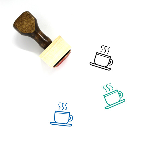 Hot Coffee Wooden Rubber Stamp No. 40