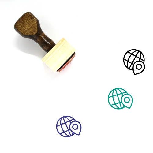 Globe Wooden Rubber Stamp No. 1356