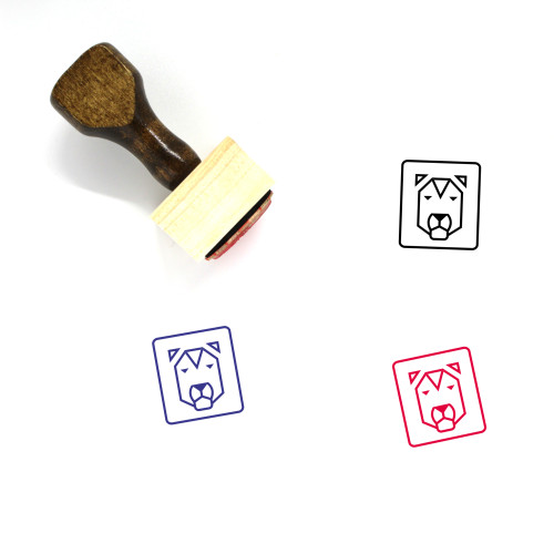 Lion Wooden Rubber Stamp No. 189
