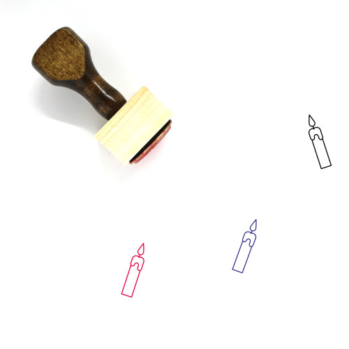 Candles Wooden Rubber Stamp No. 84
