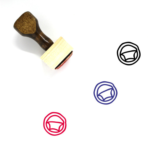 Steering Wooden Rubber Stamp No. 41