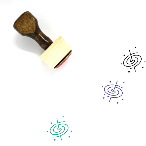 Space Wooden Rubber Stamp No. 155