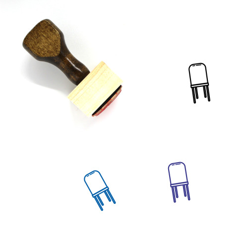 Wood Chair Wooden Rubber Stamp No. 3