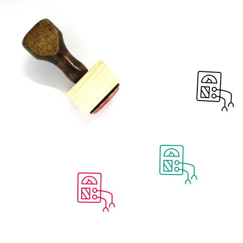 Meter Wooden Rubber Stamp No. 39