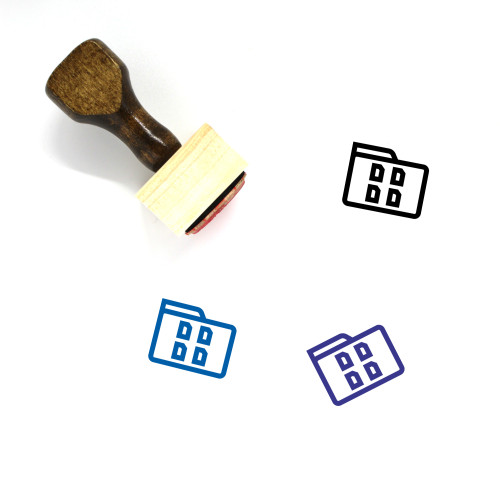Online Folder Wooden Rubber Stamp No. 74