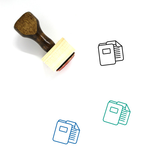 Files Wooden Rubber Stamp No. 65
