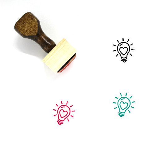 Light Bulb Wooden Rubber Stamp No. 390