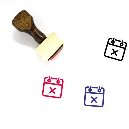 Delete Event Wooden Rubber Stamp No. 5