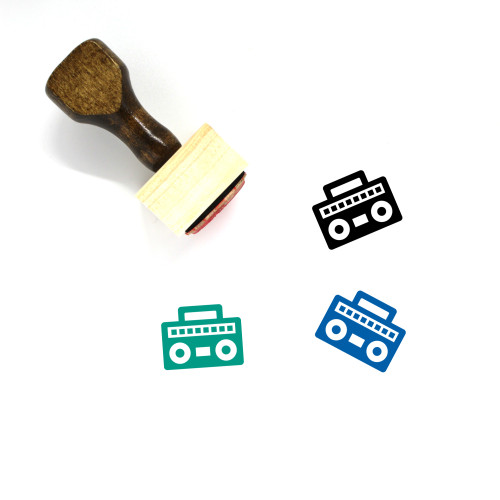 Radio Wooden Rubber Stamp No. 236