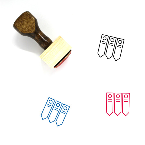 Vegetable Tags Wooden Rubber Stamp No. 1
