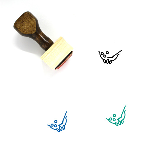Stir Fry Wooden Rubber Stamp No. 2