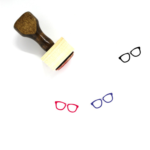Glasses Wooden Rubber Stamp No. 298