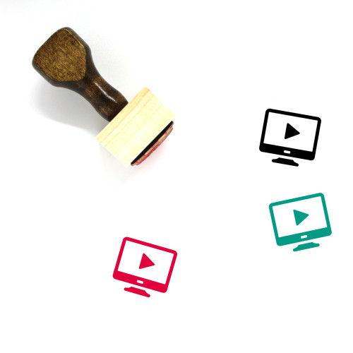 Television Wooden Rubber Stamp No. 179
