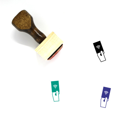 Wifi Password Wooden Rubber Stamp No. 16