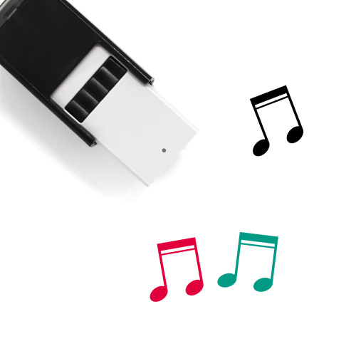 Music Notes Self-Inking Rubber Stamp No. 77