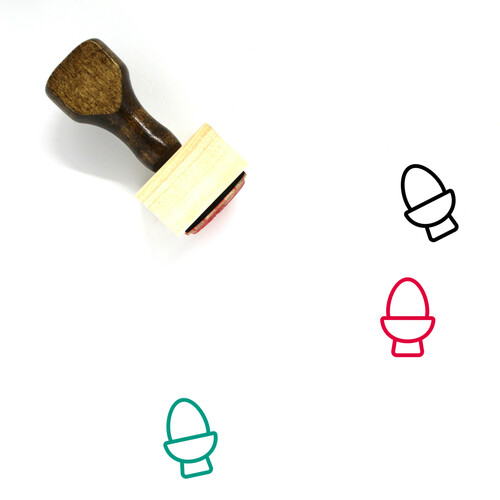 Egg Cup Wooden Rubber Stamp No. 20