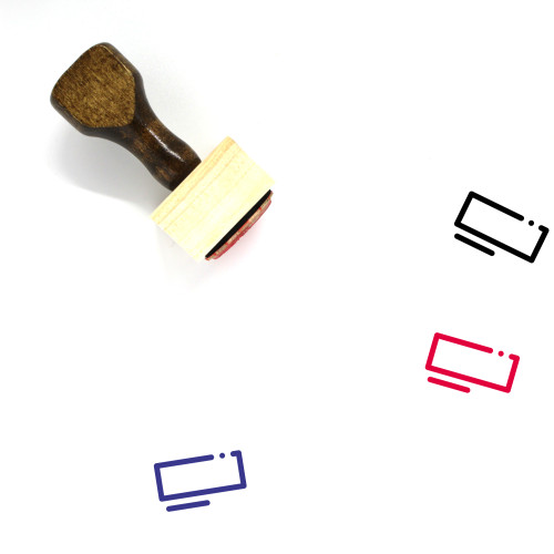 Memory Card Wooden Rubber Stamp No. 87