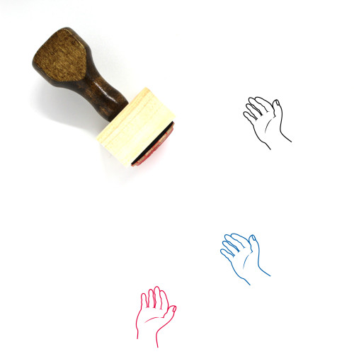 Hand Wooden Rubber Stamp No. 406