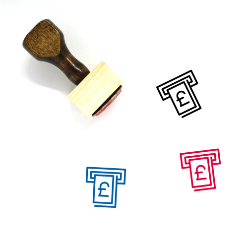 Pound Atm Wooden Rubber Stamp No. 1