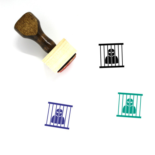 Prisoner Wooden Rubber Stamp No. 58