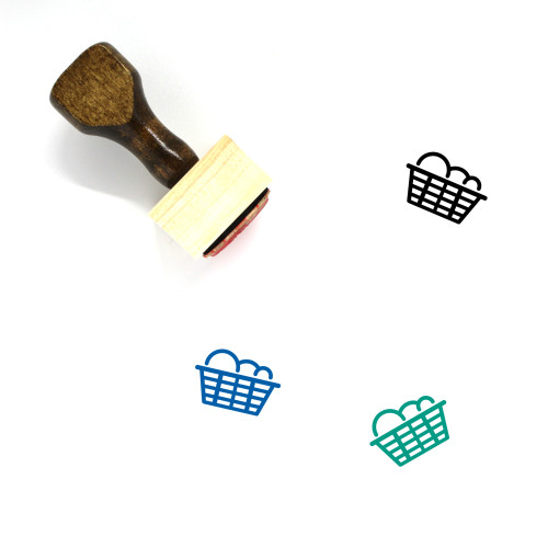 Laundry Wooden Rubber Stamp No. 86