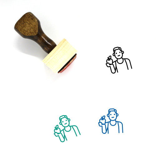 Healthy Wooden Rubber Stamp No. 74