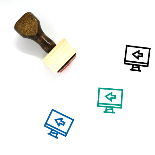 Monitor Wooden Rubber Stamp No. 184