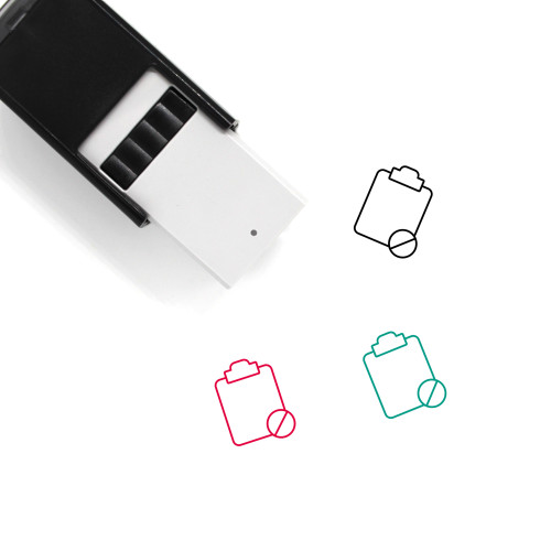 Blocked Clipboard Self-Inking Rubber Stamp No. 1