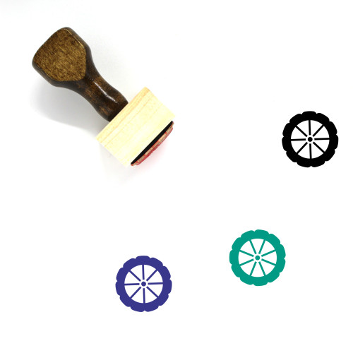 Wheel Wooden Rubber Stamp No. 42