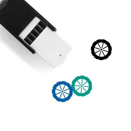 Wheel Self-Inking Rubber Stamp No. 42