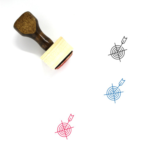 Target Arrow Wooden Rubber Stamp No. 4