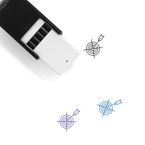 Target Arrow Self-Inking Rubber Stamp No. 4