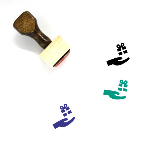 Give Gift Wooden Rubber Stamp No. 1