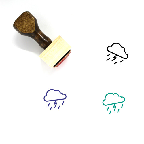 Storm Wooden Rubber Stamp No. 58