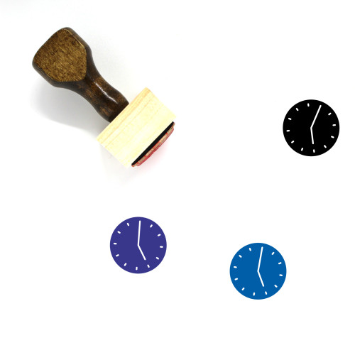 Five O'Clock Wooden Rubber Stamp No. 13