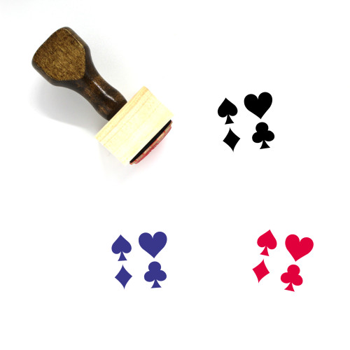 Playing Cards Wooden Rubber Stamp No. 63